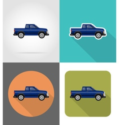 transport flat icons 51 vector image vector image