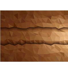 Dimension of Brown triangle banner vector image