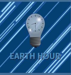 Earth hour energy saving vector