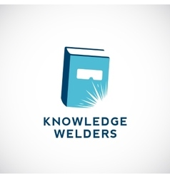 Knowledge Welders Education Abstract Sign vector image