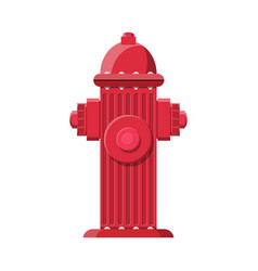 red fire hydrant fire equipment vector image vector image