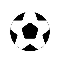 soccer ball flat icon vector image