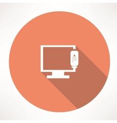tv device icon vector image vector image