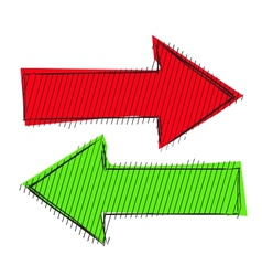 Arrows left right vector image vector image