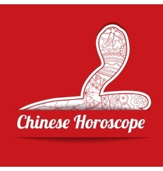 Chinese horoscope background with paper snake vector