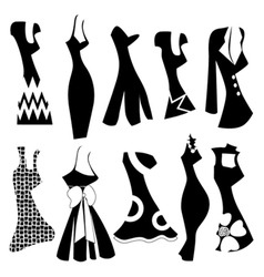 fashion woman dress vector image vector image