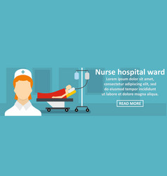 nurse hospital ward banner horizontal concept vector image