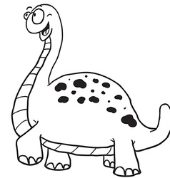 simple black and white dinosaur vector image