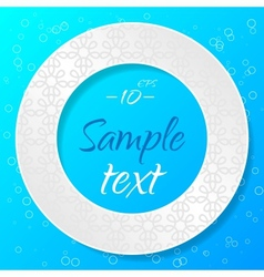 Applique Background with Textured Circle vector image vector image