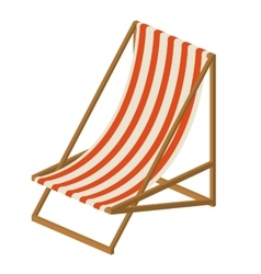 beach chair isolated icon design vector image