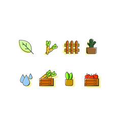 farm icon sets colorful vector image