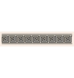 Greek style seamless ornament Black pattern on a vector image vector image