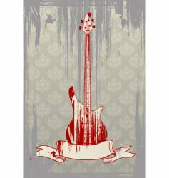 grunge bass guitar vector image