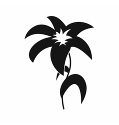 Lily icon in simple style vector image vector image