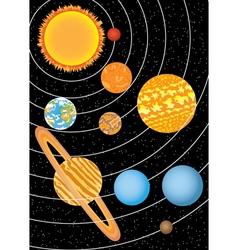 nine planets vector image