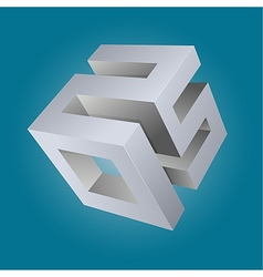 2015 3D emblem vector