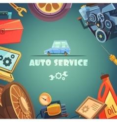 Auto Service Background vector