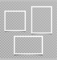 Blank photo frame set vector