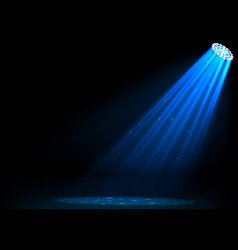 Blue spotlights on dark background vector