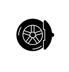 brake pads black icon sign on isolated vector image