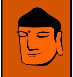 Buddha head vector