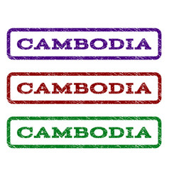 Cambodia watermark stamp vector