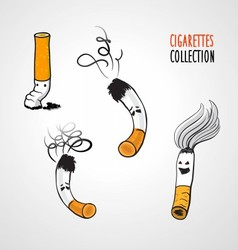 Cigarettes collection vector image