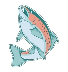Colourful line trout vector image