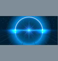 Cosmic background with fantastic hyperspace neon vector
