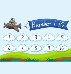 Count number to ten vector
