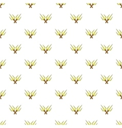 Crossed tridents pattern cartoon style vector