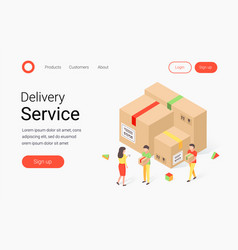 Delivery service isometric concept vector