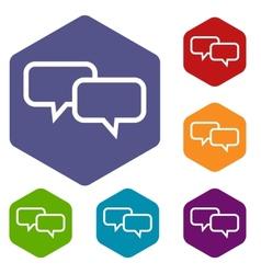 Dialog rhombus icons vector image