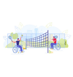 disabled or handicapped persons playing tennis vector image