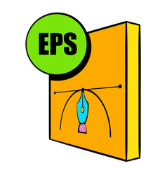 eps file icon cartoon vector image