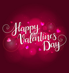 festive background for valentines day vector image