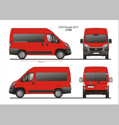Fiat ducato passenger van l1h2 vector