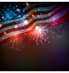 Fireworks background for 4th july vector