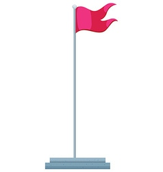 Flag and flag pole vector image