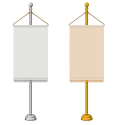 flag stand vector image