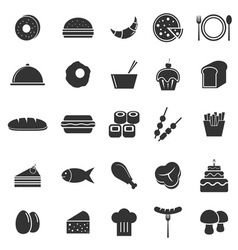 Food icons on white background vector