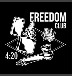 Freedom club print vector