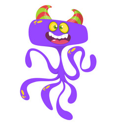 Funny cartoon monster character vector