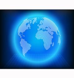 Globe dot vector