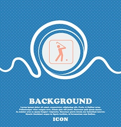 Golf sign Blue and white abstract background vector image