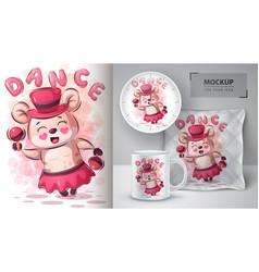hamster dance poster and merchandising vector image