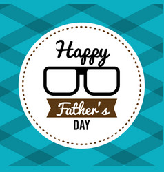 happy father day card with glasses and ribbon vector image vector image