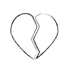 Heart broken symbol vector