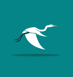 heron or egret design ciconiiformes ardeidae vector image