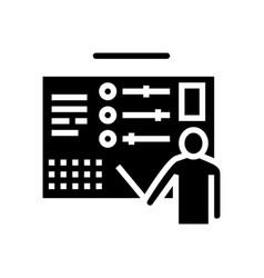 Human represent cv glyph icon vector
